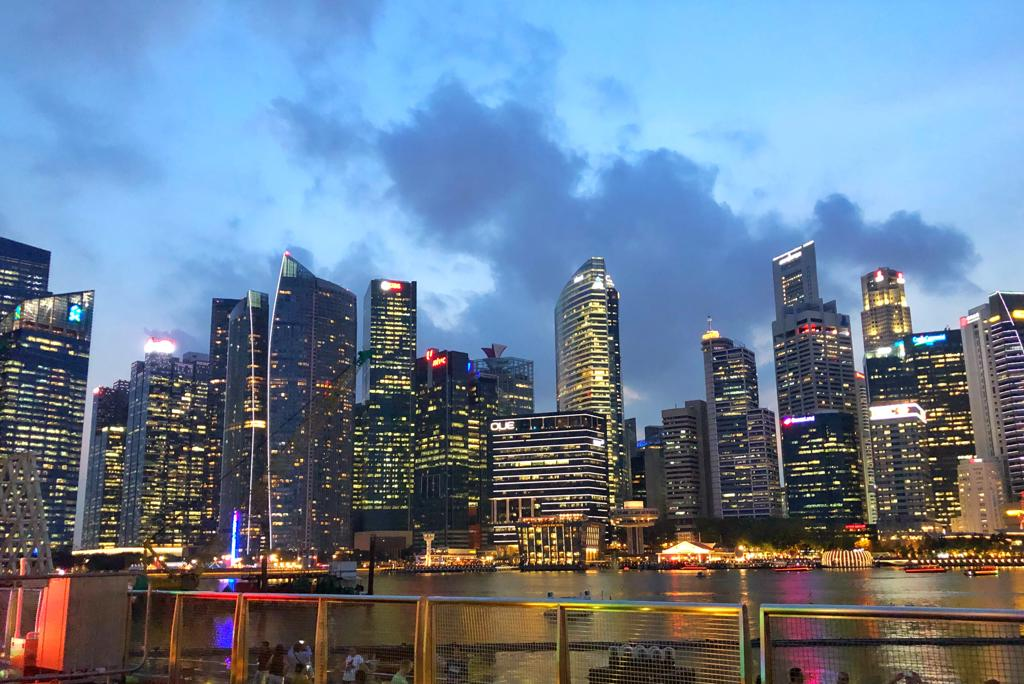 Singapore Skyline in Asia